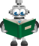 Vintage Robot Cartoon Vector Character AKA Bolty - Book