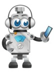 Vintage Robot Cartoon Vector Character AKA Bolty - Support