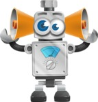 Vintage Robot Cartoon Vector Character AKA Bolty - Listen