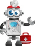 Vintage Robot Cartoon Vector Character AKA Bolty - Doctor