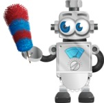 Vintage Robot Cartoon Vector Character AKA Bolty - Cleaner