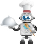 Vintage Robot Cartoon Vector Character AKA Bolty - Cook