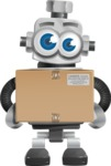 Vintage Robot Cartoon Vector Character AKA Bolty - Delivery 1