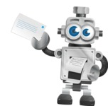 Vintage Robot Cartoon Vector Character AKA Bolty - Printer
