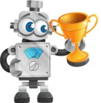 Vintage Robot Cartoon Vector Character AKA Bolty - Winner