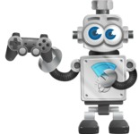 Vintage Robot Cartoon Vector Character AKA Bolty - Game