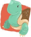 Watercolor Avatars Vector Mega Bundle - Turtle Watercolor Avatar