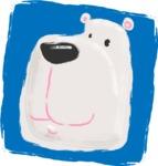 Watercolor Avatars Vector Mega Bundle - White Bear Watercolor Avatar