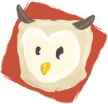 Watercolor Avatars Vector Mega Bundle - Owl Watercolor Avatar