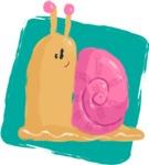 Watercolor Avatars Vector Mega Bundle - Snail Watercolor Avatar