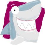 Watercolor Avatars Vector Mega Bundle - Shark Watercolor Avatar