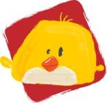 Watercolor Avatars Vector Mega Bundle - Chick Watercolor Avatar