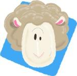Watercolor Avatars Vector Mega Bundle - Sheep Watercolor Avatar
