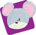 Watercolor Avatars Vector Mega Bundle - Cute Mouse Watercolor Avatar