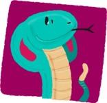 Watercolor Avatars Vector Mega Bundle - Snake Watercolor Avatar