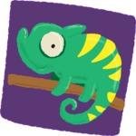 Watercolor Avatars Vector Mega Bundle - Chameleon Lizard Watercolor Avatar