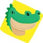 Watercolor Avatars Vector Mega Bundle - Crocodile Watercolor Avatar