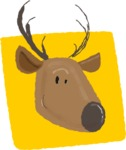 Watercolor Avatars Vector Mega Bundle - Deer Watercolor Avatar