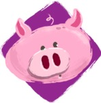 Watercolor Avatars Vector Mega Bundle - Pig Watercolor Avatar
