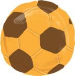 Watercolor Cartoon School Icons Bundle - Colorful Watercolor Soccerball Ball Illustration