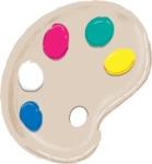 Watercolor Cartoon School Icons Bundle - Colorful Vector Palette Illustration