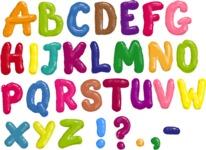 Watercolor Cartoon School Icons Bundle - Alphabet