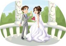 Wedding Couple in Gazebo 2