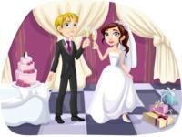 Wedding Couple Toasting