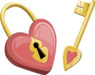 Heart Shaped Padlock