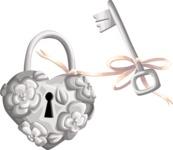 Wedding Padlock and Key