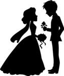 Groom Giving Flower to Bride