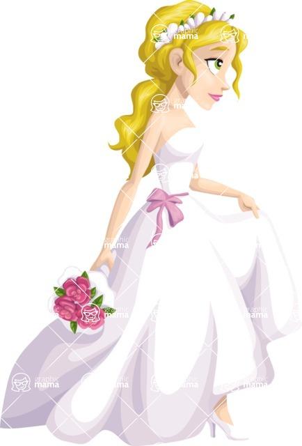 Wedding Vectors - Mega Bundle - Walking Bride