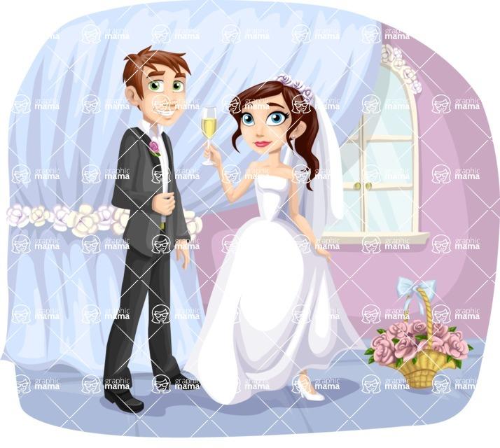 Wedding Vectors - Mega Bundle - Bride and Groom at Reception