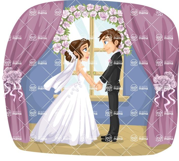 Wedding Vectors - Mega Bundle - Bride and Groom by the Window