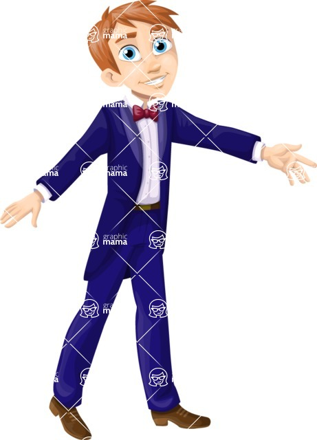 Wedding Vectors - Mega Bundle - Groom in a Tailcoat Suit 1