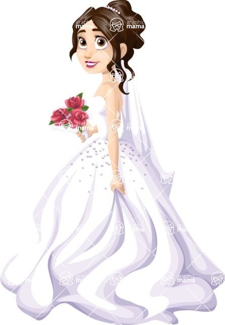 Wedding Vectors - Mega Bundle - Bride With a Bouquet