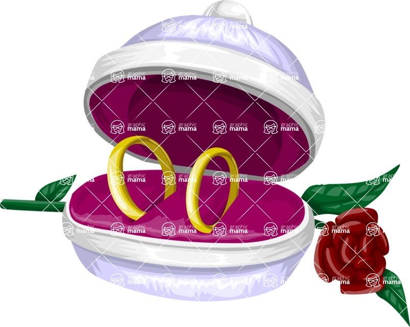 Wedding Vectors - Mega Bundle - Wedding Ring Box