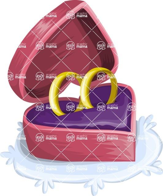 Wedding Vectors - Mega Bundle - Heart Shaped Ring Box
