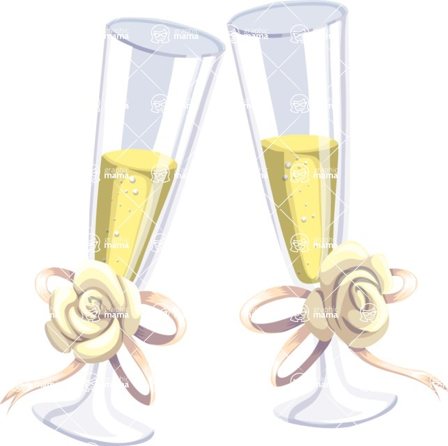 Wedding Vectors - Mega Bundle - Wedding Toasting Glasses