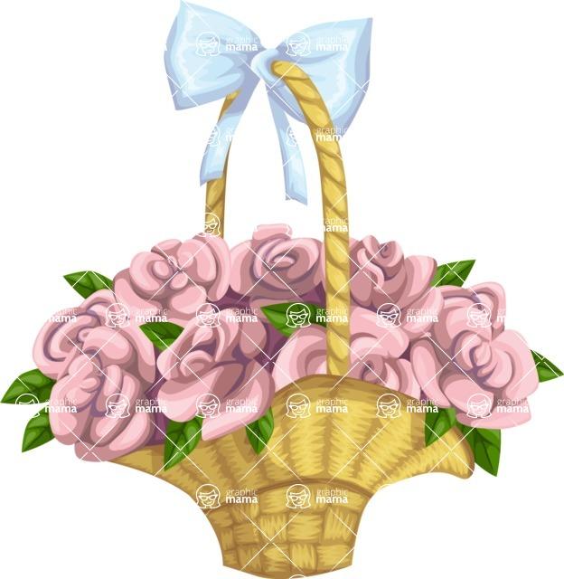 Wedding Vectors - Mega Bundle - Wedding Flower Basket
