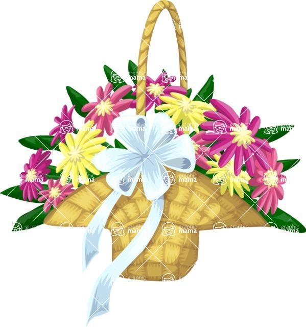 Wedding Vectors - Mega Bundle - Flower Girl Basket
