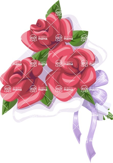 Wedding Vectors - Mega Bundle - Wedding Bouquet 7