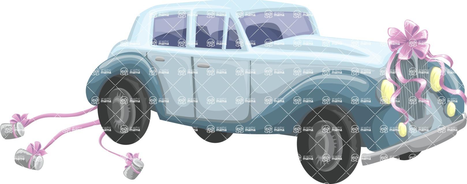 Wedding Vectors - Mega Bundle - Wedding Vintage Car
