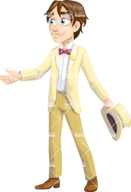 Wedding Vectors - Mega Bundle - Groom in a Beige Suit