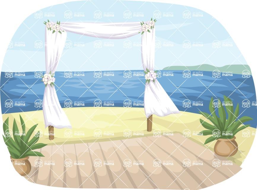 Wedding Vectors - Mega Bundle - Beach Wedding Decor