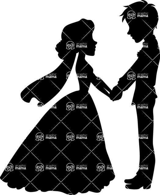 Wedding Vectors - Mega Bundle - Bride and Groom Holding Hands 1