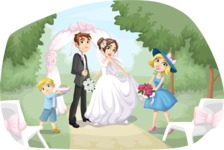 Wedding Vectors - Mega Bundle - Outdoor Wedding at the Altar