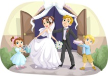 Wedding Vectors - Mega Bundle - Wedding Couple with Kids