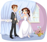Wedding Vectors - Mega Bundle - Bride and Groom at Reception