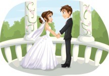 Wedding Vectors - Mega Bundle - Wedding Couple in Gazebo 1